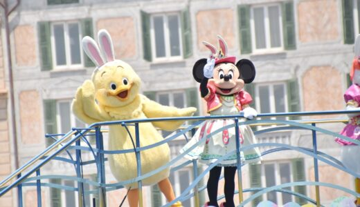 【TDS】うさピヨも乗船!イースターの雰囲気が楽しめるミッキー&フレンズのハーバーグリーティング